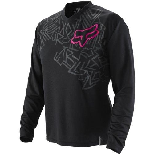 Fox Racing Switch Infinity Women's MX/Off-Road/Dirt Bike Motorcycle Jersey w/ Free B&F Heart Sticker - Black/Pink / X-Large