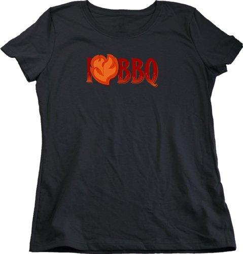 I <3 Barbeque Ladies Cut T-Shirt / Funny Griling Tee
