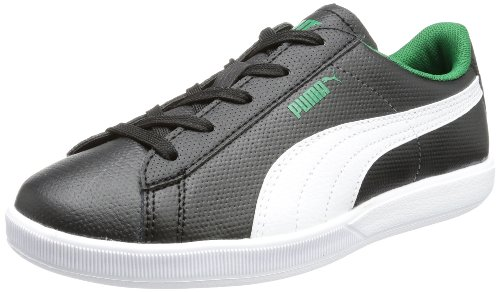 Puma Archive Lite L Jr Low Top Unisex-Child Black Schwarz (black-white-verdant green 02) Size: 35