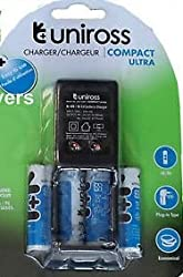 uniross compact ultra AA/r6 charger with 4units AA rechargeable batteries