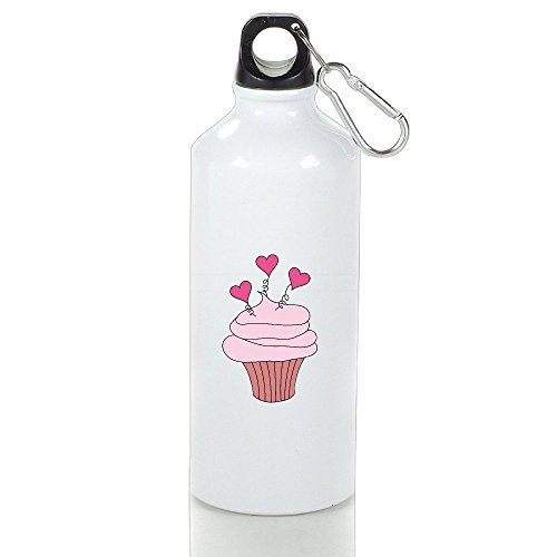 Delicious Heart Cupcake Aluminum Classic Sports Water Bottle 400ml (Patriot Cupcake Liners compare prices)