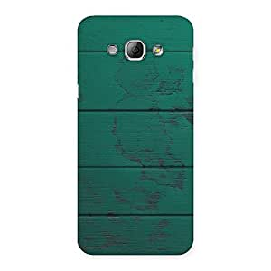 Ajay Enterprises Wood Green Texture Back Case Cover for Galaxy A8