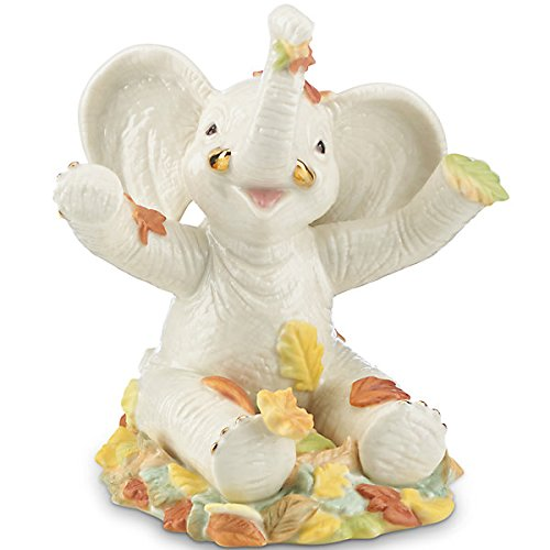 Lenox Autumn Fun Elephant Fine Porcelain China Collectible Figurine measures 4.75