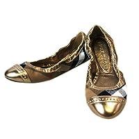 [バーバリー]BURBERRY バレエシューズ 靴 ベージュ系チェック×ペイルゴールド 3870432 [並行輸入品]