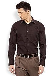Raymond Men's Casual Shirt (8907254865466_RQSH00016-O7_44_Dark Brown)