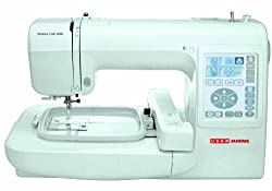Usha Janome Memory Craft 200E 35-Watt Sewing Machine (White)