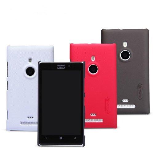 Dolextech Custodia guscio di protezione di alta qualità per Nokia Lumia 925 100% NILLKIN Back Cover(Nero)