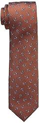 Dockers Men's Van Ness Anchors Tie, Orange, One Size