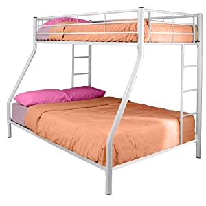 Walker Edison Twin-Over-Full Bunk Bed White