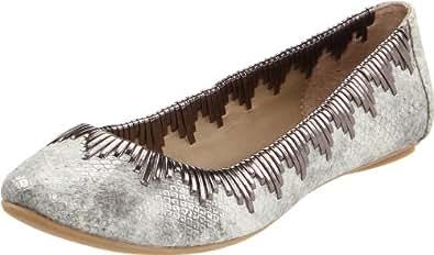 Kenneth Cole REACTION Women's Slip Me One Ballet Flat,Grey Snake,6.5 M US