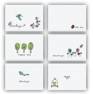 Spring Collection Thank You Cards - 24 Cards & Envelopes