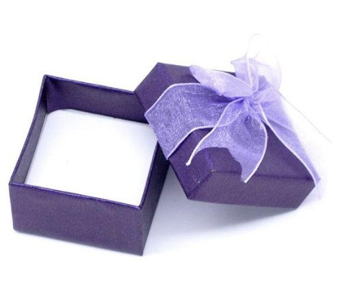 Truly Charming® Small Purple Gift Box For Earrings Charms Beads