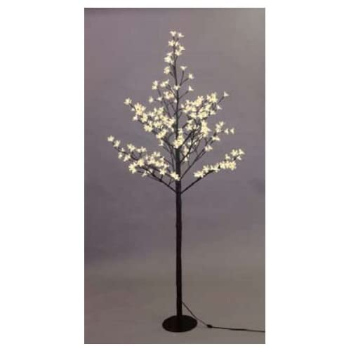 Creative Motion 12872   59 White Cherry Blossom Tree (200 Warm White LED Lights)