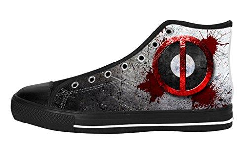 Pop Sneaker Men's High Top Soft Inner Shoes Custom Deadpool Fashion Design