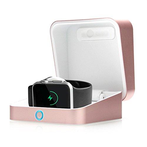 Apple-Watch-Ladeetui-COOPER-WATCH-POWER-BOX-tragbare-Wireless-Powerbank-aus-Aluminium-uhrenetui-als-Ladegert-mit-Standfunktion-und-integriertem-3000-mAh-Akku-fr-die-38mm-und-42mm-Apple-Watch-Rosgold