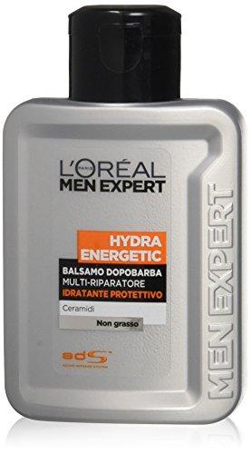 L'Oréal Paris Men Hydra Energetic 24H - Balsamo dopo-barba Idratante Protettivo - 2 pezzi da 100 ml [200 ml]