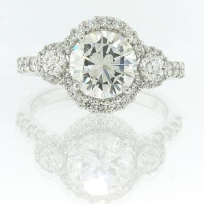 2.67ct Round Brilliant Cut Diamond Engagement