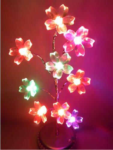 Domire Mini Colorful Peach Blossom Tree Usb / Battery Led Light Lamp Home Desk Festival Christmas Decoration Colorama Ornaments