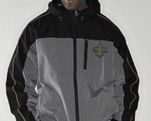 Buy NFL New Orleans SAINTS Half Time Full-Zip Windbreaker Jacket ~ Large by G-III Sports