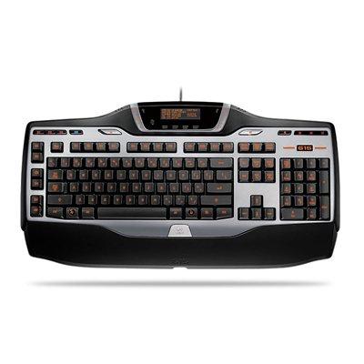 Log920000379 - Gaming Keyboard, W/ Palm Rest, 6 Programmable Keys, Bk/Sr