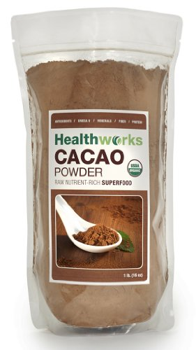 Healthworks Raw Certified Organic Cacao Powder, 1 lb Picture