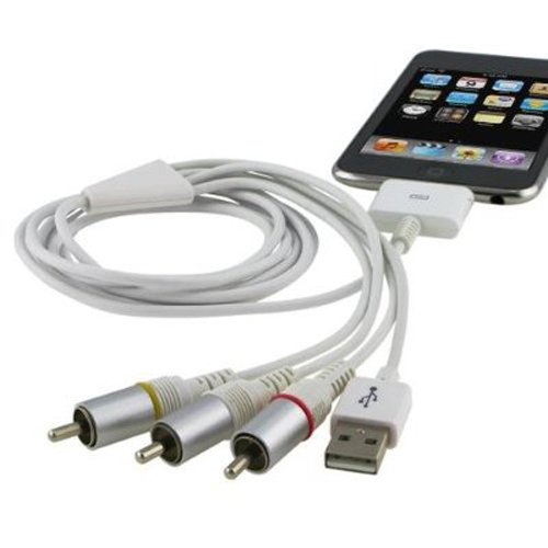 TV RCA Video Composite AV Cable +USB for Apple for iPad 2 / 3 for iPhone 4 4S 3GS for iPod Touch