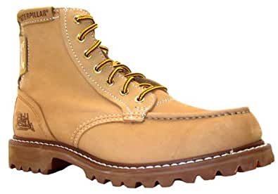 Size 6 Caterpillar Men's Covet Honey Beige Lace Up Leather Ankle Boots
