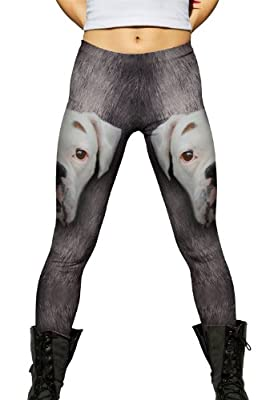 Yizzam- Boxer Dog Face -New Ladies Womens Leggings