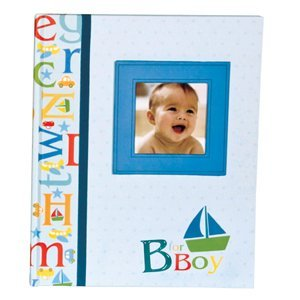C.R. Gibson B Is For Boy Keepsake Memory Book Of Baby