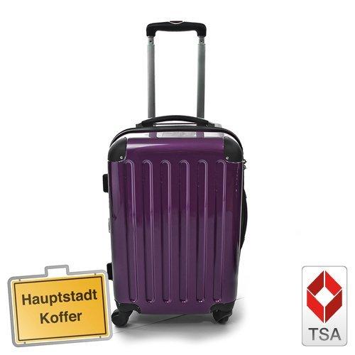 Hartschalen Koffer Aubergine Hochglanz max.130
