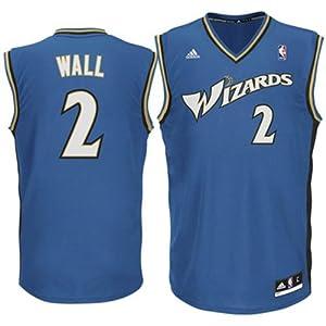 Adidas John Wall Washington Wizards Youth Revolution 30 Replica Jersey - Blue... by adidas