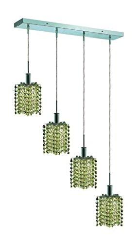 "Wiatt 4-Light 26""D Crystal Ceiling Pendant 1092D-O-P-Lp-Ss"