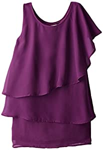 Appaman Big Girls'  One Shoulder Dress, Passion Pit, 8