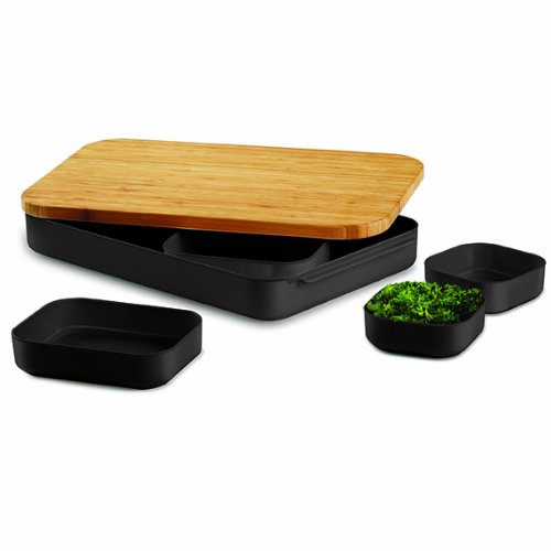 Other kitchen dining bar umbra 7 piece bento cut and prep bamboo cutting board and bowl set - Cutting board with prep bowls ...