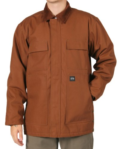KEY Chore Coat - Insulated Duck Chore work Jacket Mens - Brown