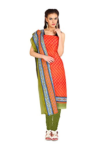 Aryahi Women's Cotton Dress Material (70497_Orange ...