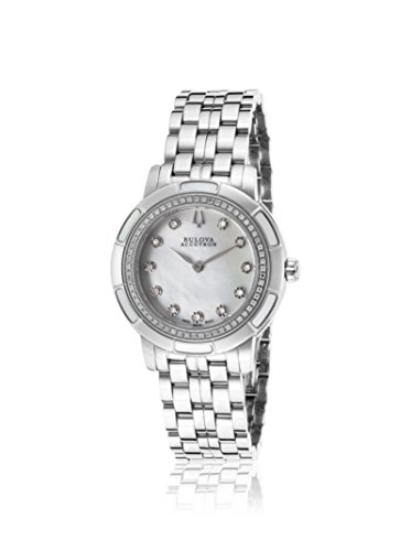 Bulova Women's ACCUTRON-63R138 Pemberton Mother Of Pearl Stainless Steel Watch
