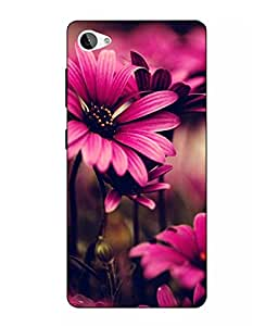 Make My Print Flower Printed Pink Hard Back Cover For Lenovo Z2 Plus
