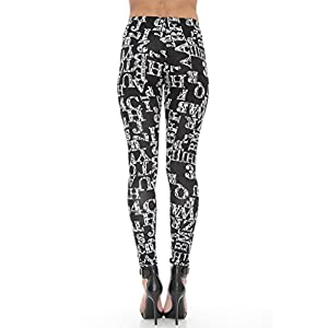 Letters and Prints Leggings Black/White M