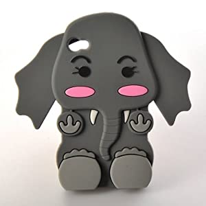 Amazon.com: Generic Cute 3D Cartoon Elephant Silicone Case