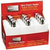 Maxam 12pc 12oz Event Flasks in Countertop Display
