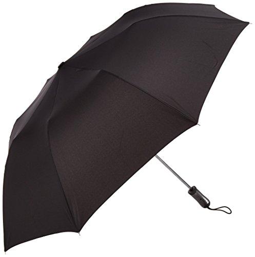 PLEMO 折り畳み傘 自動開閉 ワンタッチボタン式 紳士傘 2段式 耐強風 丈夫 超撥水性 シンプルブラック (112センチ) UA_28