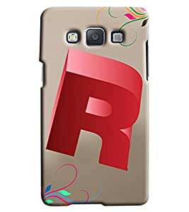 Clarks Letter R Hard Plastic Printed Back Cover/Case For Samsung Galaxy A7