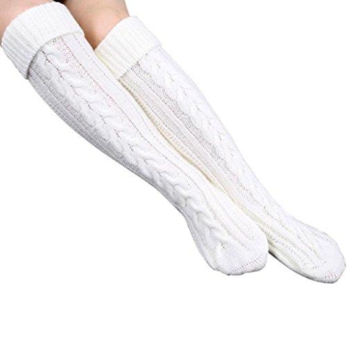 ularmor-femmes-pied-tricot-de-laine-fil-sur-stocking-genou-chaussettes-blanc