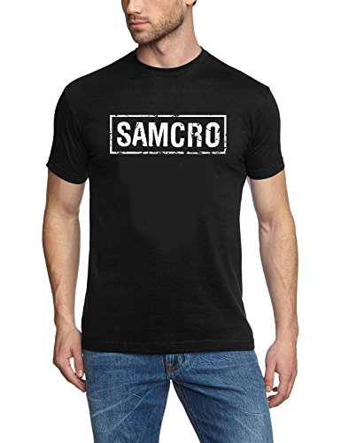 Coole-Fun-T-Shirts - T-Shirt Ft Patch Sons Of Anarchy Redwood Original Samcro, T-shirt da uomo, nero(schwarz), M