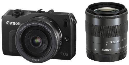 Canon デジタル一眼カメラ EOS M(ブラック) ダブルレンズキット EOSMBK-WLK