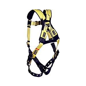 DBI/Sala 1101252 Delta Vest Style Full Body Harness, Extra Large, Navy Blue/Yellow