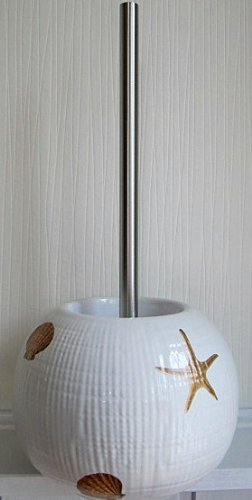 wc b rsten de wc b rste muscheln seesterne creme sea keramik. Black Bedroom Furniture Sets. Home Design Ideas