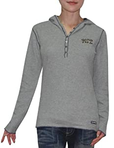NCAA Pittsburgh Panthers Ladies Slim Fit Pullover Long Sleeve Hooded Shirt by NCAA