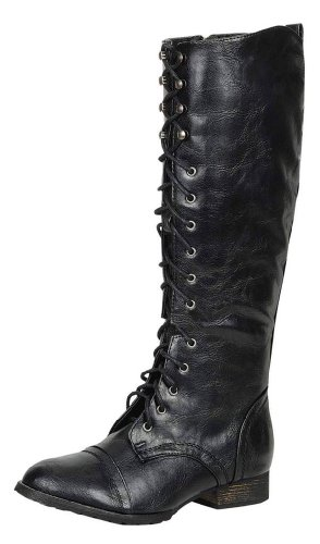 Breckelles-Outlaw-13-Womens-Ankle-Strap-Tall-Riding-Boots